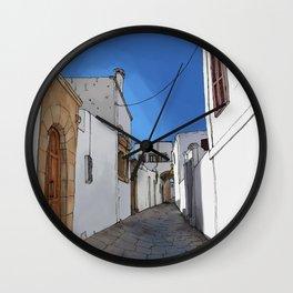 Roads of Rhodes Wall Clock