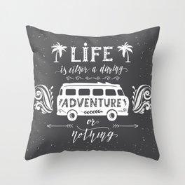 Bulli Adventure Throw Pillow