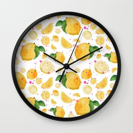 Lemon Splash Wall Clock