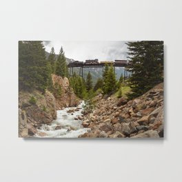 Colorado Mountain Train Georgetown Loop Railroad Metal Print