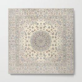 Bohemian Farmhouse Traditional Moroccan Art Style Texture Metal Print