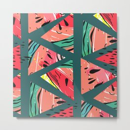 Green Watermelon pattern Metal Print