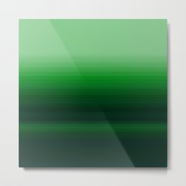 Emerald Green Stripe Design Metal Print