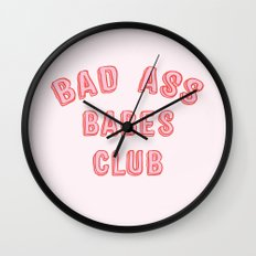 BAD ASS BABES CLUB Wall Clock