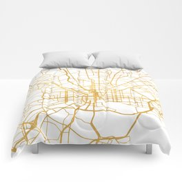 BALTIMORE MARYLAND CITY STREET MAP ART Comforters