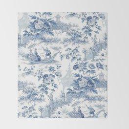 Powder Blue Chinoiserie Toile Decke