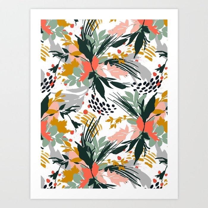 Botanical brush strokes I Kunstdrucke