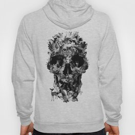 Jungle Skull B&W Hoody