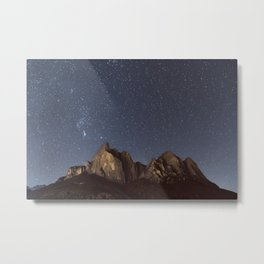 Stars over the Dolomites   Nature and Landscape Photography Metal Print