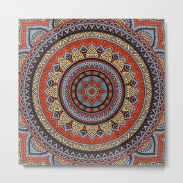 Hippie mandala 49 Metal Print