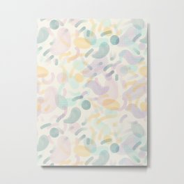 Dotted Blobs #society6 #abstractart Metal Print