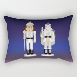 Toy King and Mouse King on Christmas Eve. Rectangular Pillow
