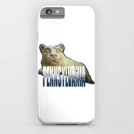 Pennsylvania State Watercolor Lion Print iPhone Case