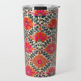 Kermina Suzani Uzbekistan Colorful Embroidery Print Travel Mug