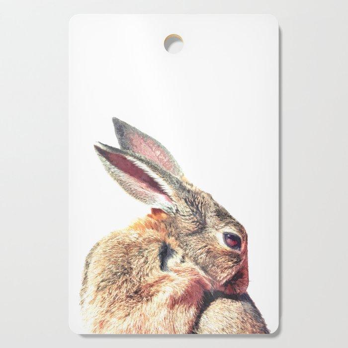 Rabbit Portrait Cutting Board
