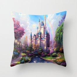 FAIRY FANTASY CASTLE Throw Pillow