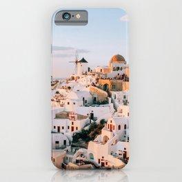 Dreaming at Dusk | Santorini, Greece iPhone Case