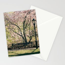 Magnolia's Bloom in Central Park Stationery Cards