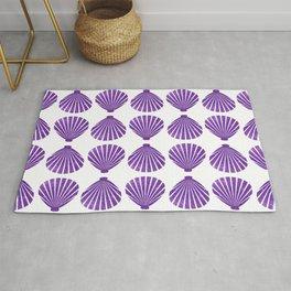 Purple Glitter Shells Rug