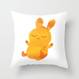 Sleepy Bunny Throw Pillow