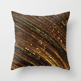 rox - abstract design rich brown rust copper tones Throw Pillow