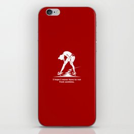 Running from Zombies iPhone Skin