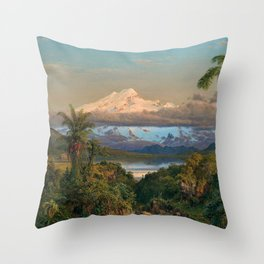 Volcán Cayambe, Ecuador Landscape Painting by Frederic Edwin Church Throw Pillow
