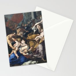 Milan - paint of Massacre of the Innocents from San Eustorgio church Stationery Cards