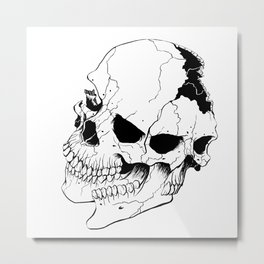 Skull (Fragmented and Conjoined) Metal Print
