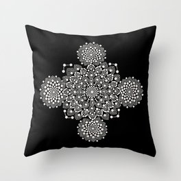 Atoms And Lace Throw Pillow
