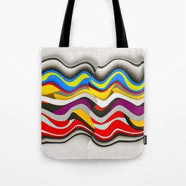 Colored Waves Tote Bag