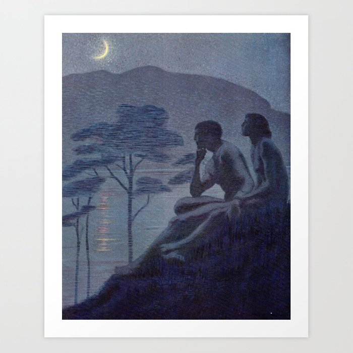 """""""Give me nights perfectly quiet... and I looking up at the stars"""" (Margaret C Cook, Leaves of Grass) Kunstdrucke"""