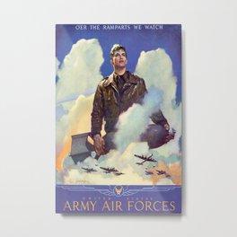 Vintage poster - Army Air Forces Metal Print