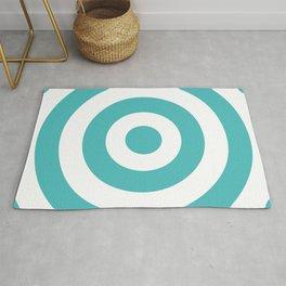 Target (Teal & White Pattern) Rug
