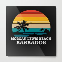 MORGAN LEWIS BEACH BARBADOS Metal Print