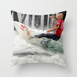 Kelly Slater Surfing Throw Pillow