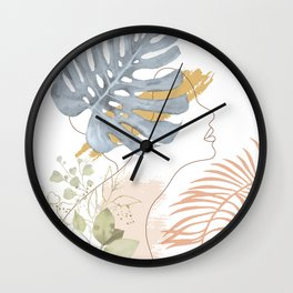 Line in Nature III Wall Clock
