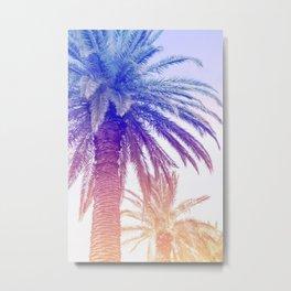 Palm Tree on Sunset Metal Print
