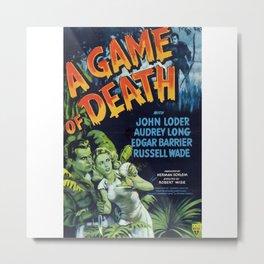 A Game of Death, vintage horror movie poster Metal Print