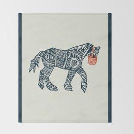 Iron Horse Throw Blanket