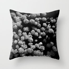 Summer snowballs Throw Pillow