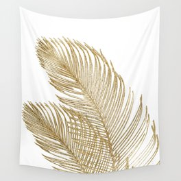 Palm Leaves Finesse Line Art with Gold Foil #2 #minimal #decor #art #society6 Wall Tapestry