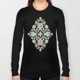Soft Marsala and Sage Pattern Long Sleeve T-shirt