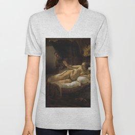 "Rembrandt Harmenszoon van Rijn, ""Danae"", 1636 Unisex V-Neck"