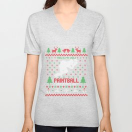 Ugly Paintball Christmas Gift Unisex V-Neck