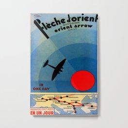 fleche d orient Vintage Travel Poster Metal Print