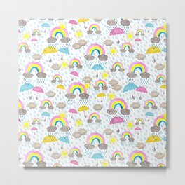Showers & Rainbows Metal Print