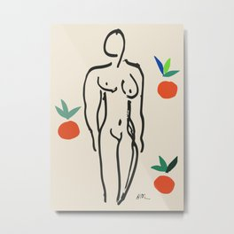 Henri Matisse Nude With Oranges 1951 Artwork for Wall Art, Prints, Posters, Tshirts, Men, Women, Youth Metal Print