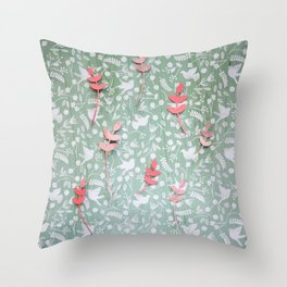 Paper Edition Color Stars Balloon Leaves Hearts Space Birds Grass Throw Pillow