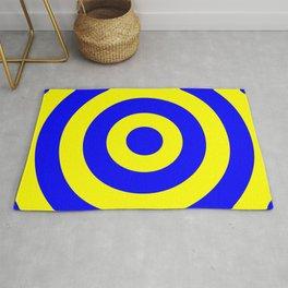 Target (Blue & Yellow Pattern) Rug